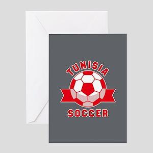 Tunisia Soccer Greeting Card