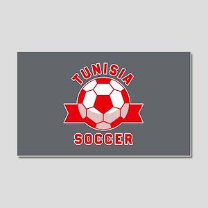Tunisia Soccer Car Magnet 20 x 12