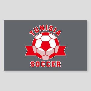 Tunisia Soccer Sticker (Rectangle)