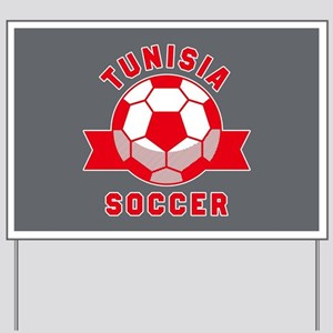 Tunisia Soccer Yard Sign