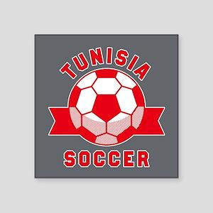 """Tunisia Soccer Square Sticker 3"""" x 3"""""""
