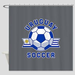 Uruguay Soccer Shower Curtain