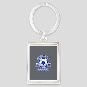 Uruguay Soccer Portrait Keychain