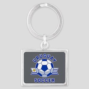 Uruguay Soccer Landscape Keychain