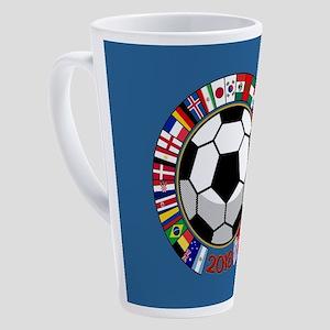 Soccer 2018 17 oz Latte Mug