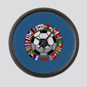 Soccer 2018 Large Wall Clock