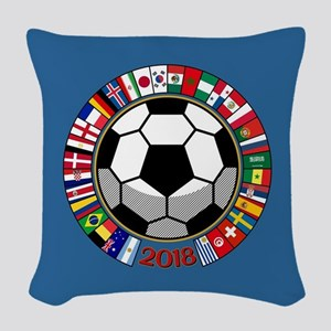 Soccer 2018 Woven Throw Pillow