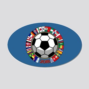 Soccer 2018 20x12 Oval Wall Decal