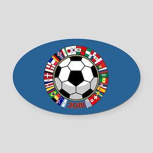 Soccer 2018 Oval Car Magnet