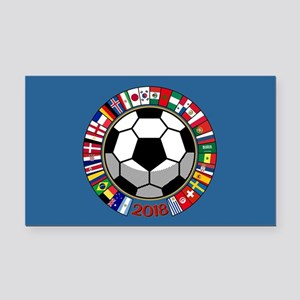 Soccer 2018 Rectangle Car Magnet