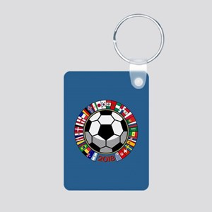 Soccer 2018 Aluminum Photo Keychain