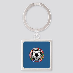 Soccer 2018 Square Keychain