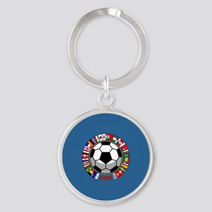 Soccer 2018 Round Keychain
