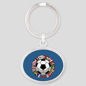 Soccer 2018 Oval Keychain