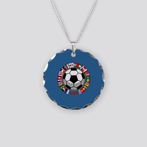 Soccer 2018 Necklace Circle Charm