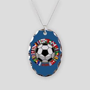 Soccer 2018 Necklace Oval Charm