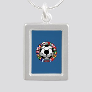 Soccer 2018 Silver Portrait Necklace