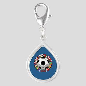 Soccer 2018 Silver Teardrop Charm
