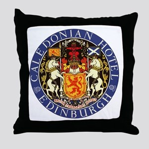 Caledonian Hotel Edinburgh Throw Pillow
