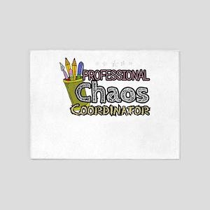 Teacher Professional Chaos Coordina 5'x7'Area Rug