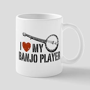 I Love My Banjo Player Mug