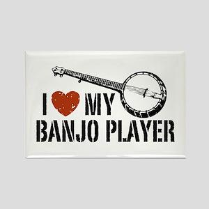 I Love My Banjo Player Rectangle Magnet