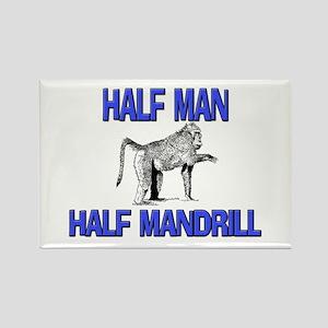 Half Man Half Mandrill Rectangle Magnet