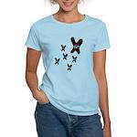 Butterfly Flowers Women's Light T-Shirt