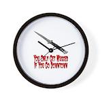 You Get Mugged Wall Clock