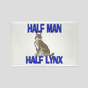 Half Man Half Lynx Rectangle Magnet