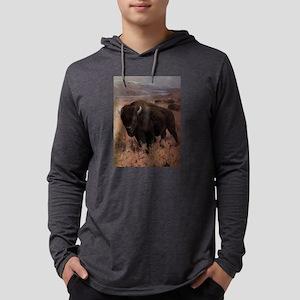 Vintage American Buffalo Paint Long Sleeve T-Shirt