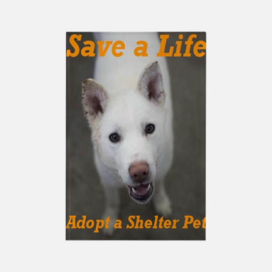 Save a Life, Adopt a Shelter Rectangle Magnet