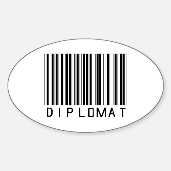 Diplomat Barcode Oval Decal