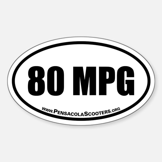 80 mpg Oval Euro Decal