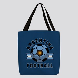 Argentina Football Polyester Tote Bag