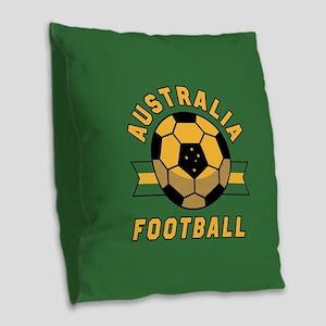 Australia Football Burlap Throw Pillow