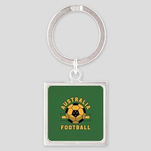 Australia Football Square Keychain