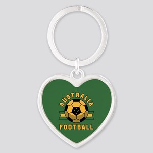 Australia Football Heart Keychain