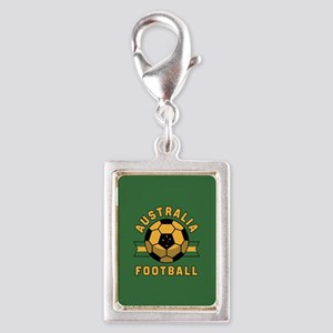 Australia Football Silver Portrait Charm