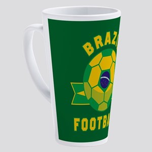 Brazil Football 17 oz Latte Mug