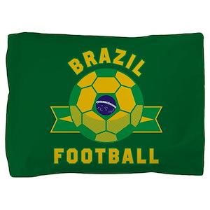 Brazil Football Pillow Sham