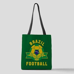 Brazil Football Polyester Tote Bag