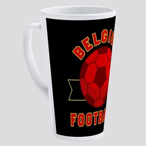 Belgium Football 17 oz Latte Mug