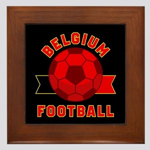 Belgium Football Framed Tile