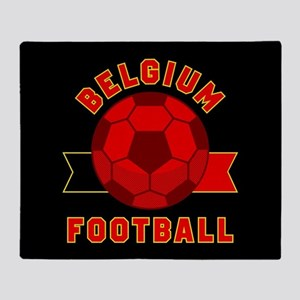 Belgium Football Throw Blanket