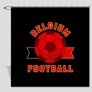 Belgium Football Shower Curtain