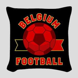 Belgium Football Woven Throw Pillow