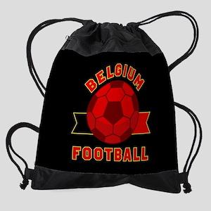 Belgium Football Drawstring Bag
