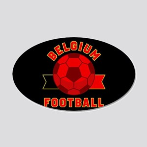 Belgium Football 20x12 Oval Wall Decal