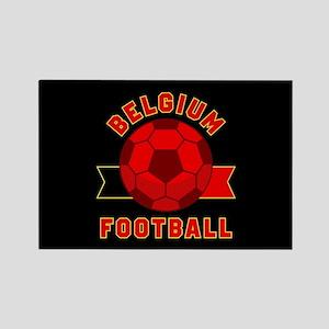 Belgium Football Rectangle Magnet